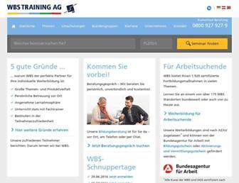 wbstraining.de screenshot