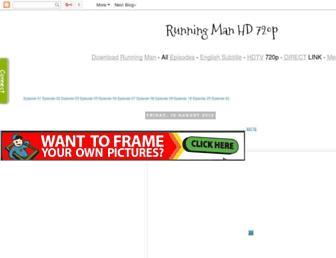 runningmanhd.blogspot.com screenshot