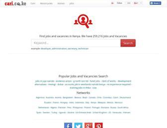 jobs.cari.co.ke screenshot
