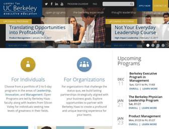 executive.berkeley.edu screenshot