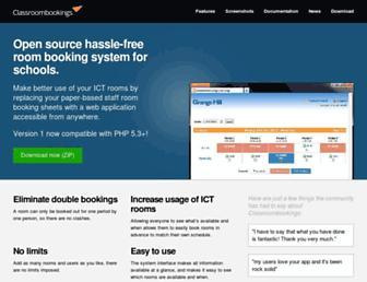 classroombookings.com screenshot
