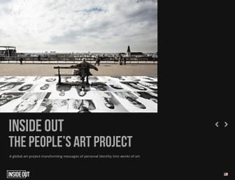 Main page screenshot of insideoutproject.net