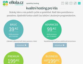 Main page screenshot of ebola.cz
