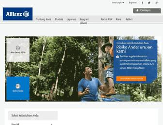Main page screenshot of allianz.co.id