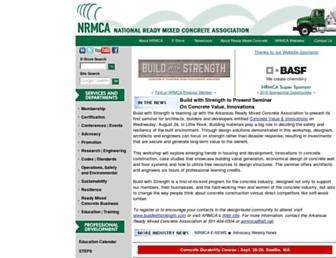 Main page screenshot of nrmca.org