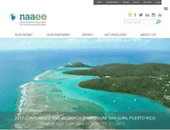 Main page screenshot of eelinked.naaee.net