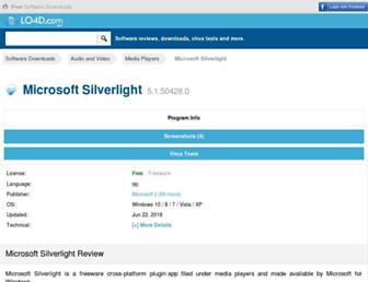 microsoft-silverlight.en.lo4d.com screenshot