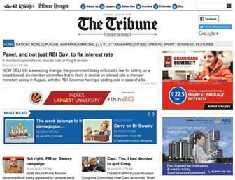 Thumbshot of Tribuneindia.com