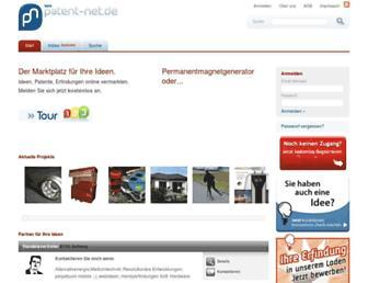 Main page screenshot of patent-net.de