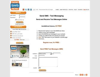 sendsmsnow.com screenshot