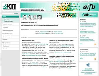 aifb.kit.edu screenshot