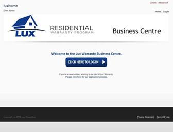 business.luxwarranty.com screenshot