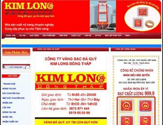 kimlongdongthap.vn screenshot