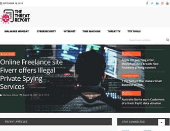 thethreatreport.com screenshot