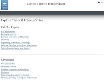 explore.tandfonline.com screenshot