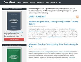 quantstart.com screenshot