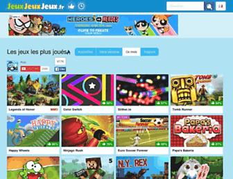 Main page screenshot of jeuxjeuxjeux.fr