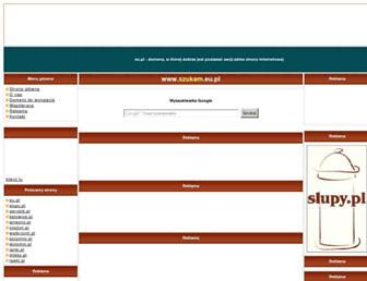 Main page screenshot of szukam.eu.pl