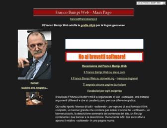 Main page screenshot of francobampi.it