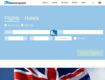 Thumbshot of Farecompare.com