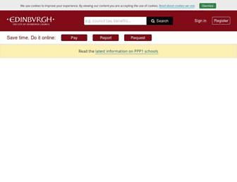 edinburgh.gov.uk screenshot