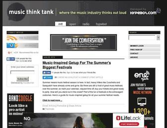 musicthinktank.com screenshot