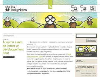 Main page screenshot of lesintegristes.net