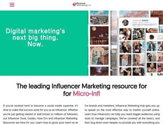 influencermarketinghub.com screenshot