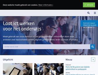 Main page screenshot of webquestmaker.nl