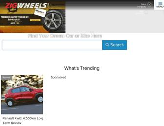 zigwheels.com screenshot