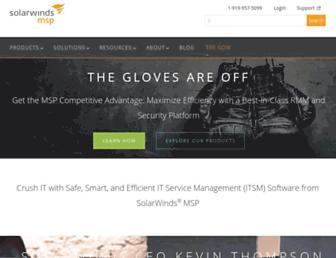 solarwindsmsp.com screenshot