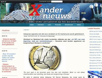 Main page screenshot of xandernieuws.punt.nl