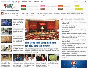 Main page screenshot of vov.vn