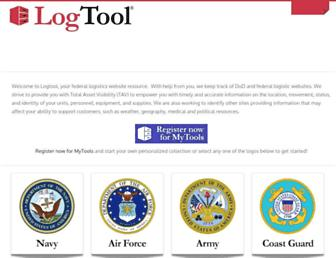 Main page screenshot of logtool.net
