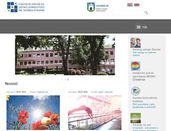 Main page screenshot of stampar.hr