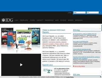 Main page screenshot of idg.cz