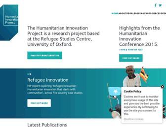 Main page screenshot of oxhip.org