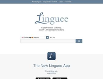 linguee.com screenshot