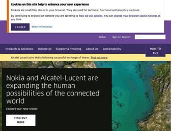 www1.alcatel-lucent.com screenshot