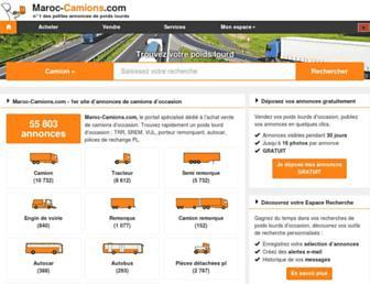 maroc-camions.com screenshot