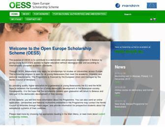 Main page screenshot of oess.eu