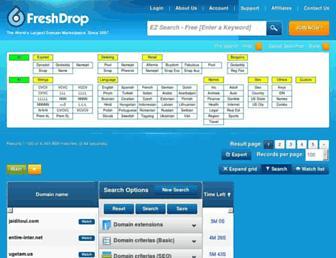 Thumbshot of Freshdrop.net