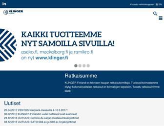 klinger.fi screenshot