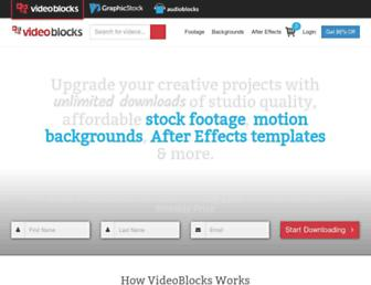 videoblocks.com screenshot