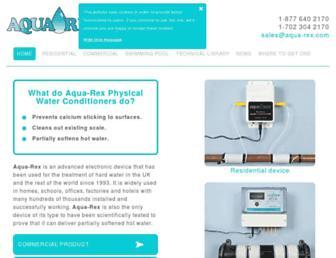 aqua-rex.com screenshot