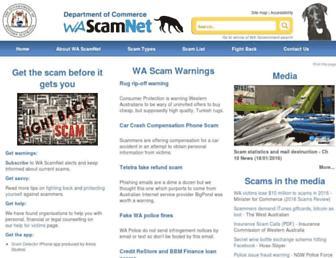scamnet.wa.gov.au screenshot
