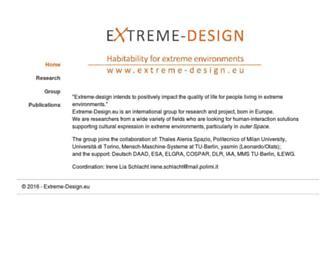 Main page screenshot of extreme-design.eu