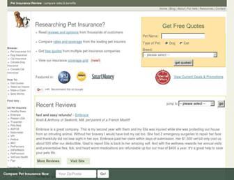 petinsurancereview.com screenshot