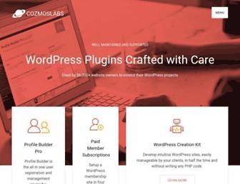cozmoslabs.com screenshot