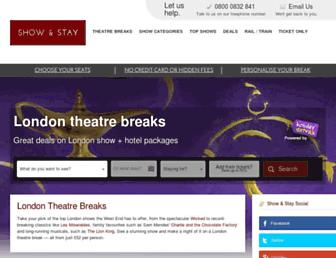 Main page screenshot of show-and-stay.co.uk